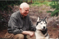 Phil Garey with his dog in 1999